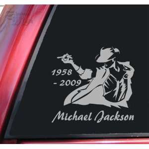 Michael Jackson 1958   2009 Vinyl Decal Sticker   Grey