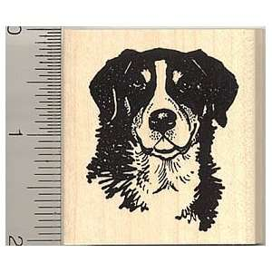 Bernese Mountain Dog Rubber Stamp   Wood Mounted Arts