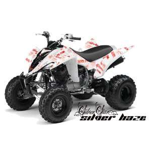Silver Star AMR Racing Yamaha Raptor 350 ATV Quad Graphic Kit   Silver