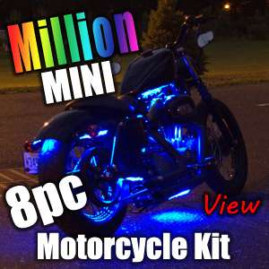 6pc MILLION COLOR MINI SMD LED MOTORCYCLE LIGHT KIT