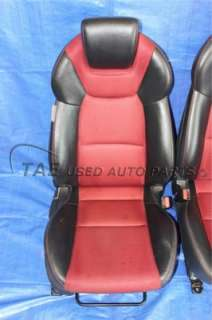 2010 HYUNDAI GENESIS COUPE 2.0T TRACK BLACK & RED LEATHER FRONT SEATS