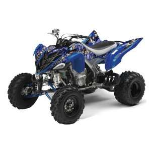AMR Racing Yamaha Raptor 700 ATV Quad Graphic Kit   Madhatter Blue