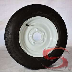 12 inch Solid Steel Trailer Wheel 5x4.5 and Tire Assembly 4.80 12 Load