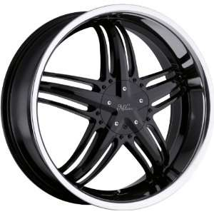 20x8 Milanni Force 5x110 5x115 +38mm Black Wheels Rims