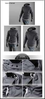 B12 12 Mens Korea Style Slim Fitted Casual Hoodies NWT