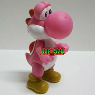 New Super Mario Brothers Action Figure ( 41/2 Pink Yoshi )