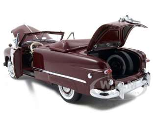 1949 FORD CUSTOM CONVERTIBLE MAROON 124 FRANKLIN MINT