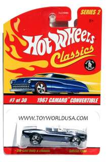 Hot Wheels Classics series 2 #7 1967 Chevy Camaro Convertible black