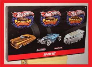 HOT WHEELS GARAGE 30 CARS SET DRAG BUS VW T1 CHASE