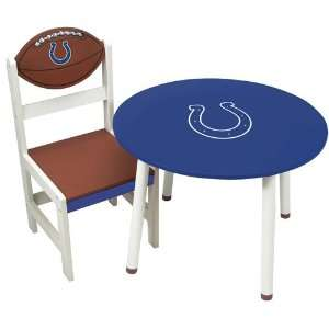 Pack of 2 NFL Indianapolis Colts Childrens Wooden Team