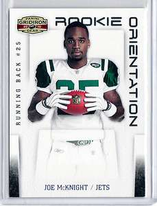 2010 Gridiron Gear JOE MCKNIGHT jets Rookie Orientation SILVER 1/250
