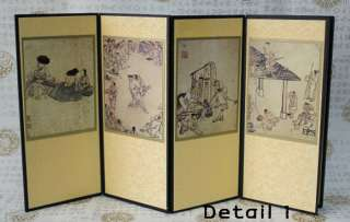 Miniature Folding Screen Kim Hong Do Antiques Art Deco