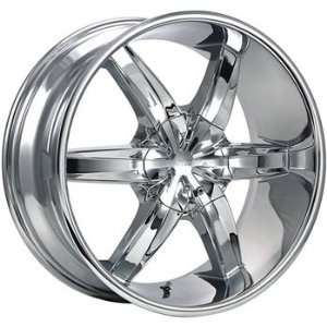 Cruiser Alloy Flash 20x9 Chrome Wheel / Rim 6x5.5 & 6x135 with a 25mm
