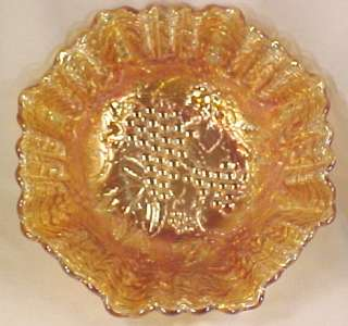 Gorgeous Marigold IMPERIAL GRAPE CARNIVAL GLASS BOWL