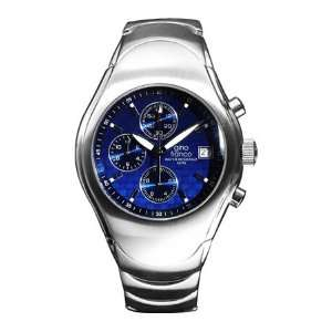 Mens Round Stainless Steel Chronograph Bracelet Watch #991BL Watches