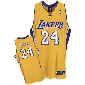 Kobe Bryant Lakers Adidas NBA Authentic Gold Jersey   Size 54  2XL