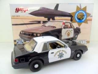 GMP 1/18 9065   1985 SPEC SVC FORD MUSTANG POLICE CAR