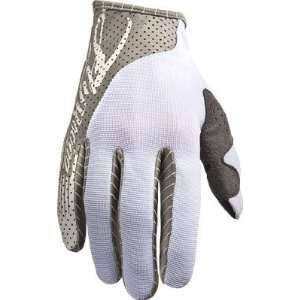 Fly Racing FLY Lite Race Gloves Youth White/Gray Medium