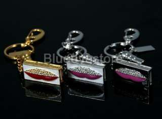 New 4GB Gold Crystals Lipstick keychain Jewelry USB 2.0 Flash Memory