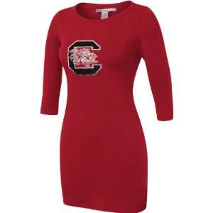 South Carolina Gamecocks Womens Cardinal Fitted Dress
