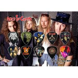 Alice in Chains Guitar Pick Display   Premium Celluloid