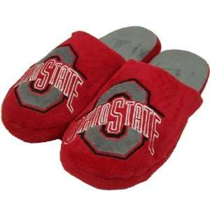 OHIO STATE BUCKEYES OFFICIAL LOGO PLUSH SLIPPERS SIZE L