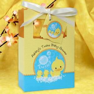Twin Ducky Ducks   Classic Personalized Baby Shower Favor