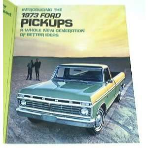 1973 73 FORD PICKUP Truck BROCHURE F100 F250 F350