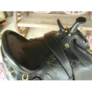 River Black Leather Australian Stock Horse Saddle