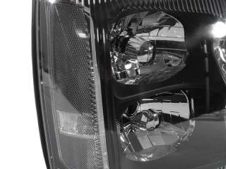 03 06 Cadillac Escalade D1R XENON BLACK CLEAR HEADLIGHT