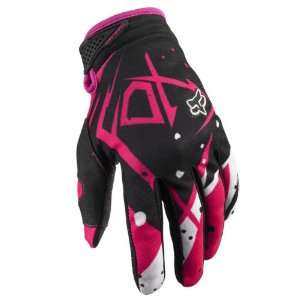 Fox Racing Dirtpaw Undertow Gloves Black Pink Small 8