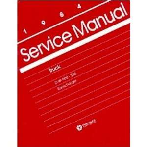 1984 DODGE RAM PICKUP TRUCK RAMCHARGER Service Manual Automotive