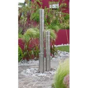 Tigris Stainless Steel Tube Water Feature by Stowasis