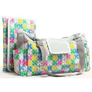 Gray Diaper Bag by Mekoh H&Bags With Changing Pad Baby