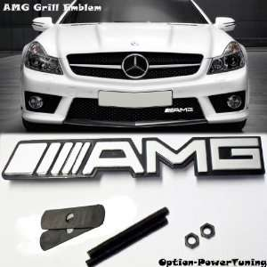 New Mercedes Benz AMG Logo Grill Grille Emblem (UNIVERSAL FITMENT FOR