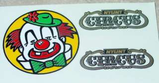 Vintage Nylint Circus Semi Truck Replacement Decal Set