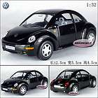 New Volkswagen 132 Beetle Coupe Diecast Model Car Black B153a