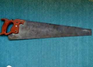 VINTAGE SIMONDS STRAIGHT BACK # 71 HAND SAW BLUE RIBBON