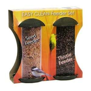 Belle Fleur 50129 Easy Clean Seed and Thistle Bird Feeder Set