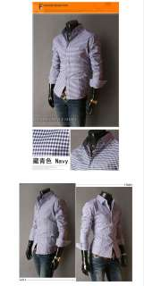 Mens Casual Slim Luxury Stylish Dress Shirt 4size 6Color FF0781,Fit