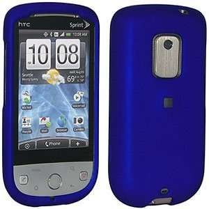 New Amzer Rubberized Blue Snap On Crystal Hard Case For