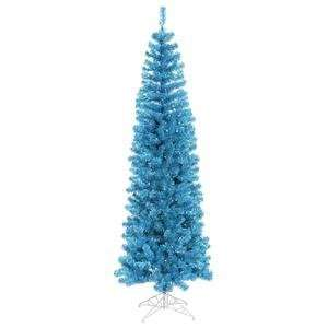 Vickerman 5.5 Foot Sky Blue Pencil Christmas Tree