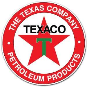 Texaco Petroleum Products Gas Station Racing Car Bumper Sticker Decal