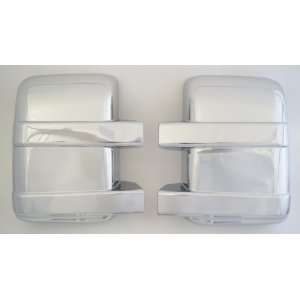 Ford F 250 / F 350 Super Duty Chrome Mirror Cover Set Without Turn