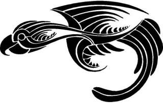 Tribal Bird Vinyl Decal Car Truck Boat Window Walls Signs Trailer