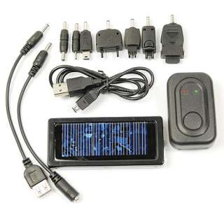 Solar Power Panel Battery Charger + Adapter F  Phone