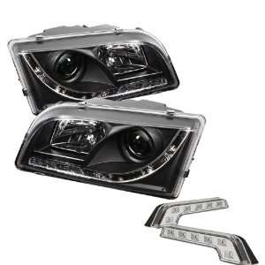 Carpart4u Volvo S40 DRL LED Black Projector Headlights and