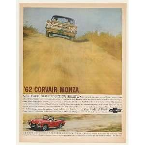 1962 Chevy Corvair Monza and Corvette Convertible Print Ad