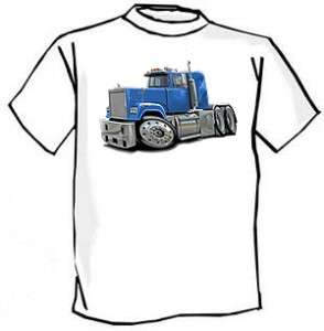 Mack Superliner Semi Truck Cartoon Tshirt NEW