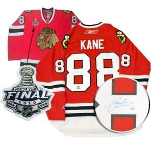 Patrick Kane Autographed/Hand Signed Jersey Blackhawks Dark Replica
